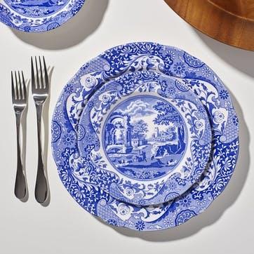 Blue Italian Side Plates, Set of 4