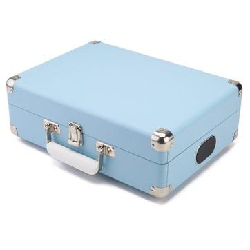 Attaché Case Turntable; Sky Blue