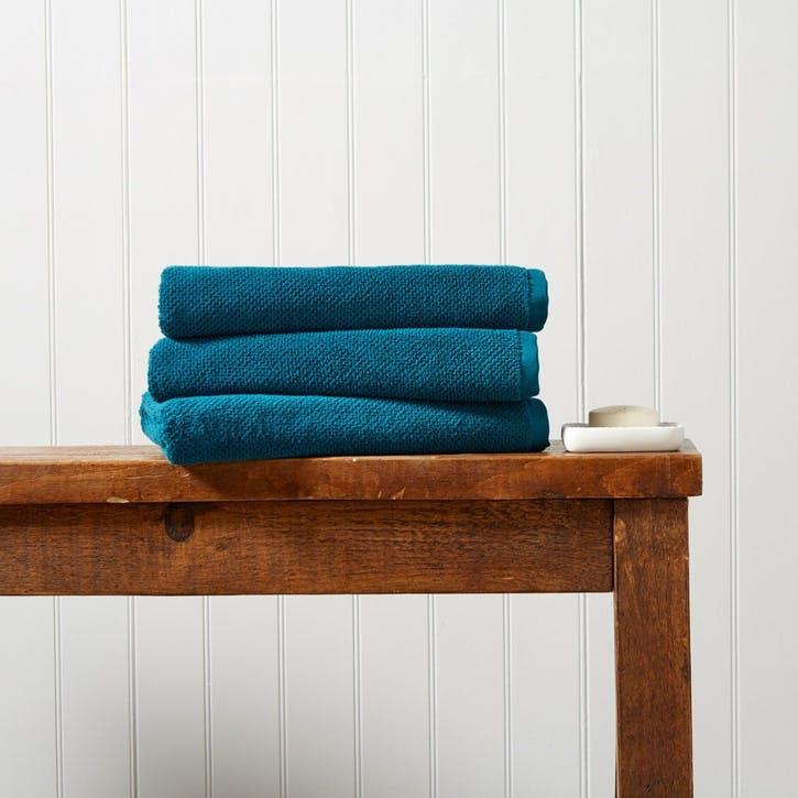 Brixton Hand Towel, Peacock