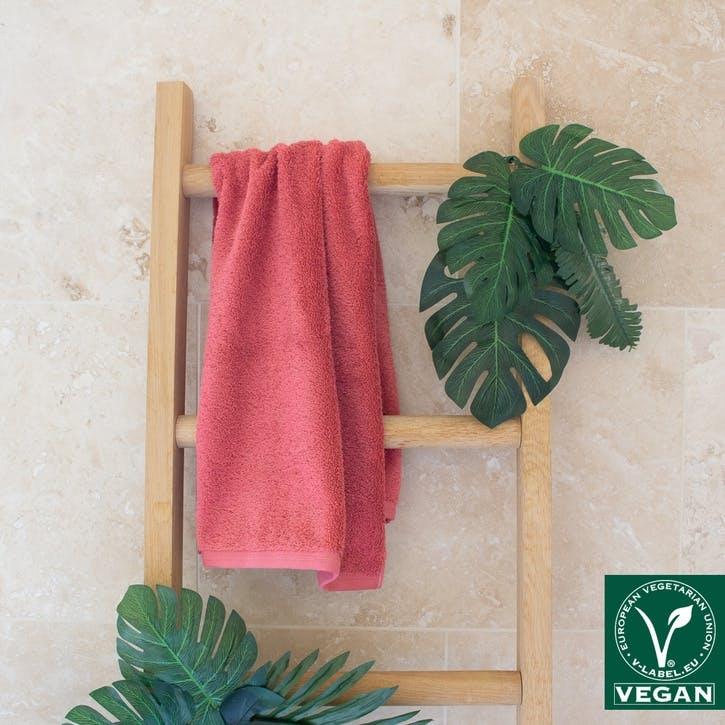 Vegan Life Hand Towel, Maroon