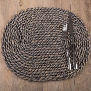 Naturals Greywash Oval Serve Mat