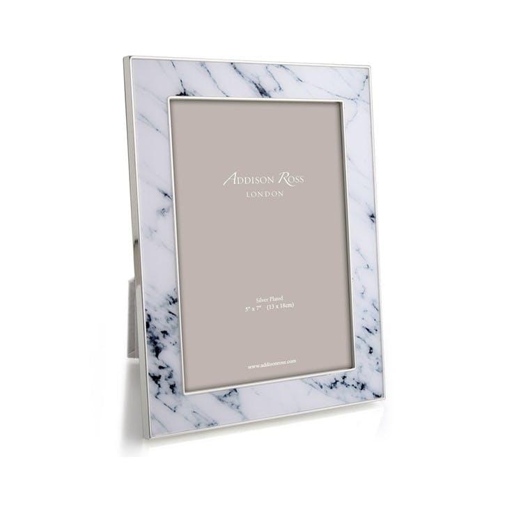 "Marble Frame - 4""x6""; White"