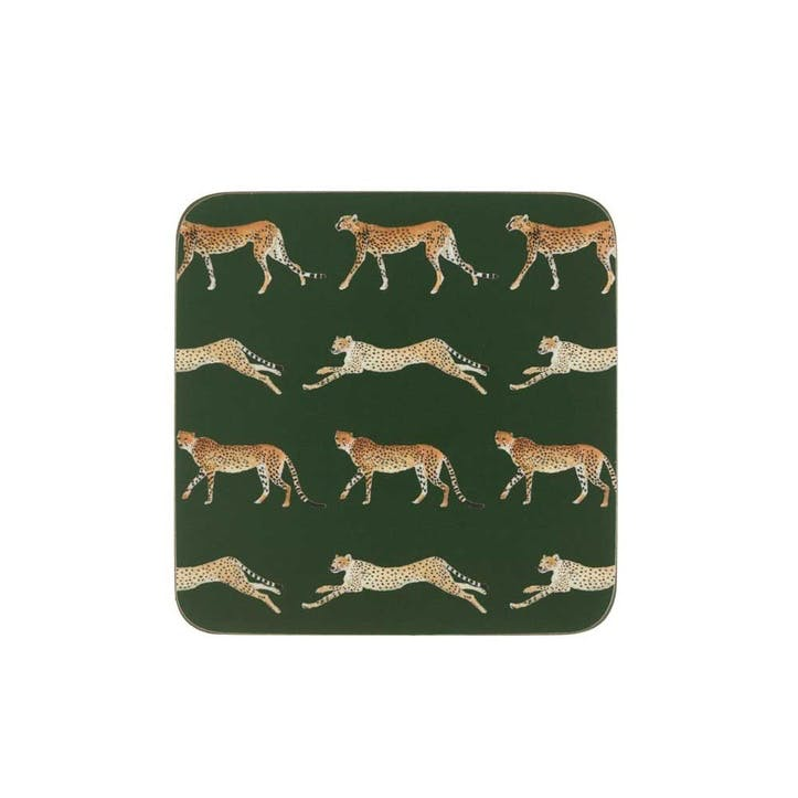 ZSL 'Cheetah' Coasters, Set Of 4