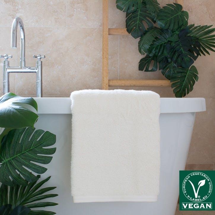 Vegan Life Bath Sheet, Ivory