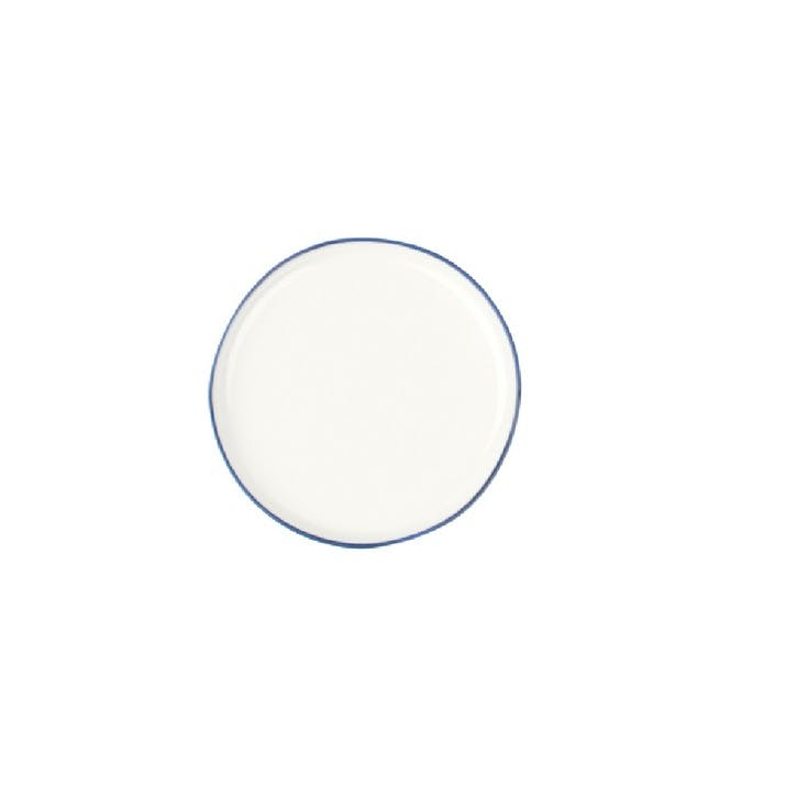 Abbesses Biscuit Plate, Blue