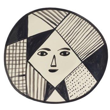 Mono Platter, 38cm, Black & White