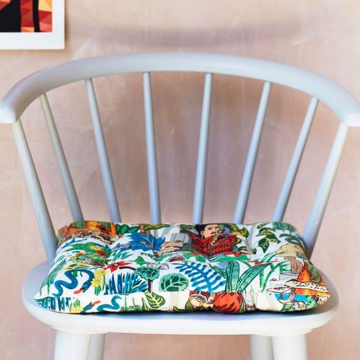 Frida Tapestry Print Seat Pad
