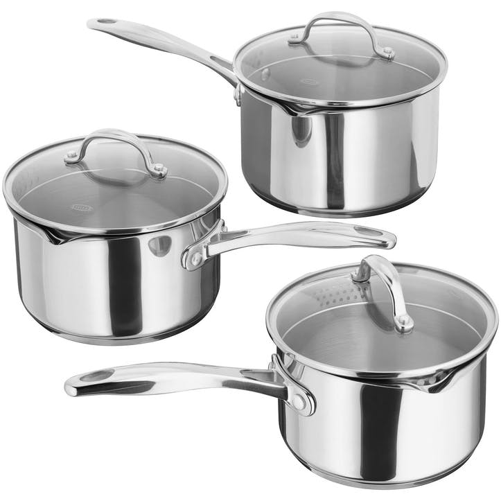 7000 Draining Saucepan Set, 3 Piece