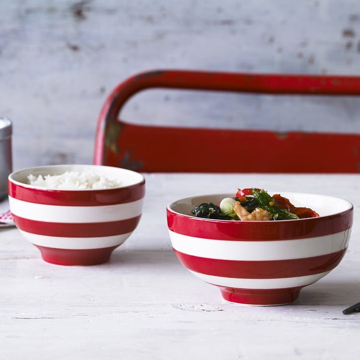 Cornish Red Soup Bowls, Set of 4