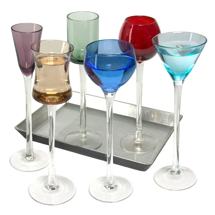 7 Piece Short Stem Liqueur Set
