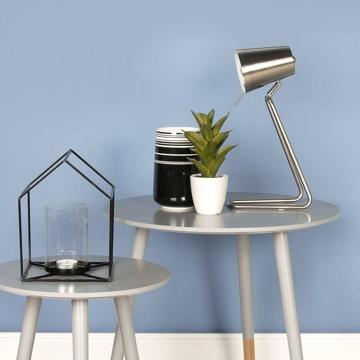 'Z' Table Lamp, Silver