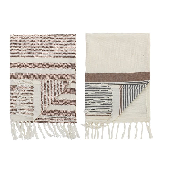 Kichen Towel, Set of 2, Multi-Stripe