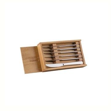 Steak Knife in Wooden Box, Set of 6