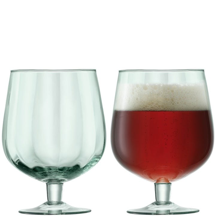 LSA  Mia Recycled Beer Glass, Set of 2