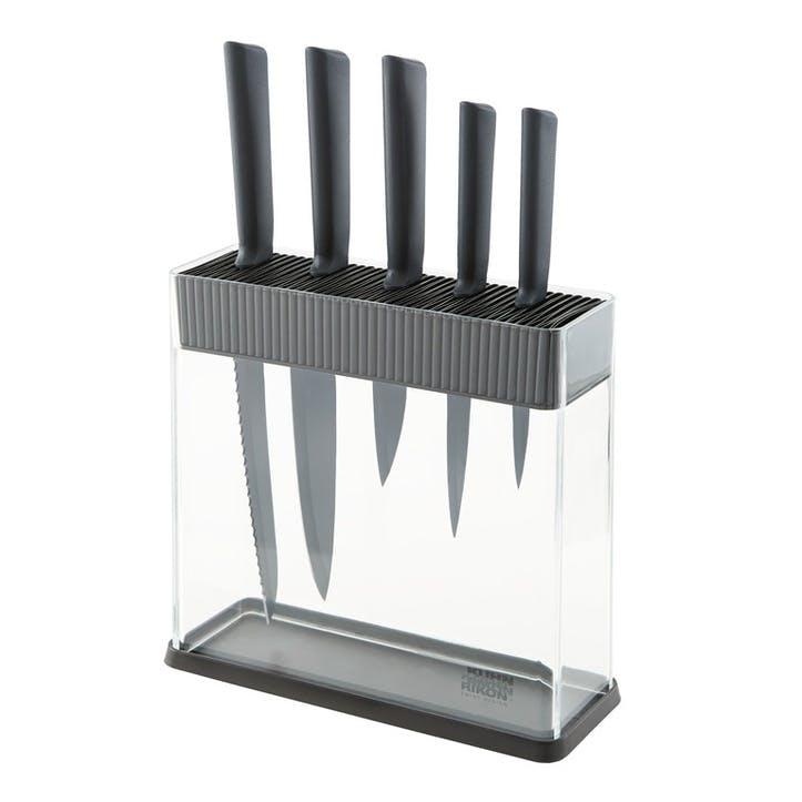 Colori+ 6 Piece Assorted Knife Set & Block, Black