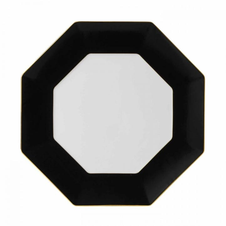 Arris Charcoal Octagonal Charger