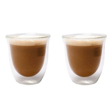 Jack Double Walled Glass Cappuccino Cup, Set of 2
