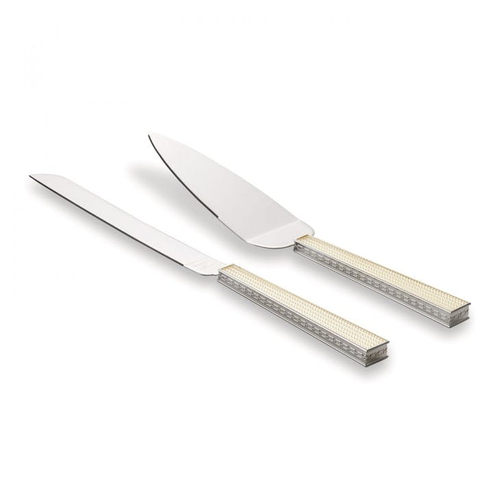 With Love Nouveau Pearl Cake Knife and Server