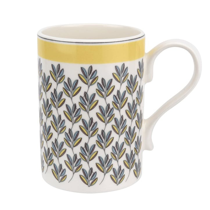 Westerly Mug, Set of Four - 12oz; Yellow Band
