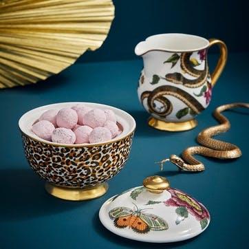 Covered Sugar Bowl, Leopard/Floral