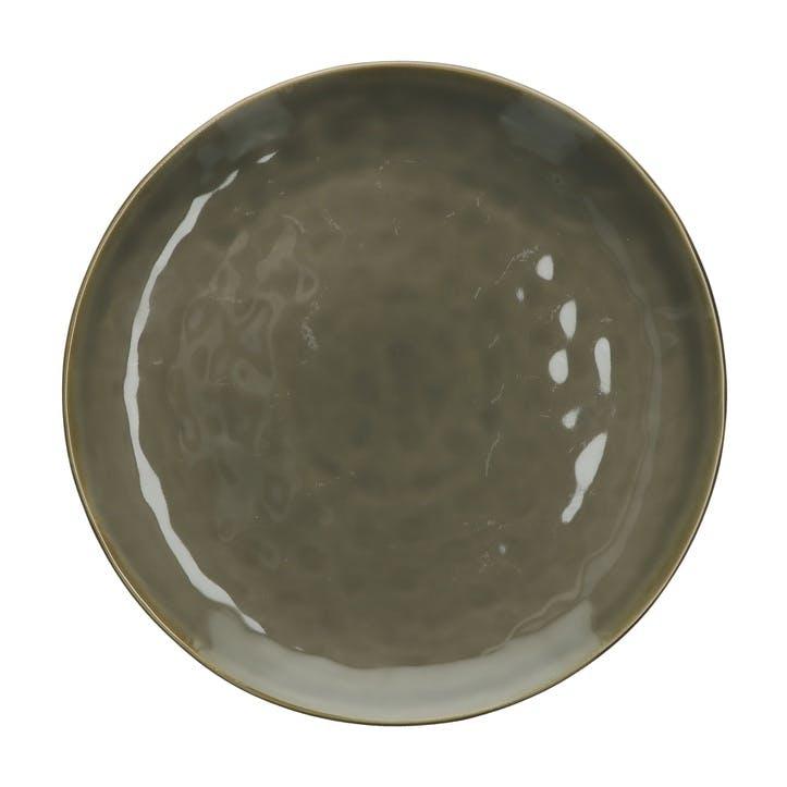 Concerto Round Serving Platter, Grey