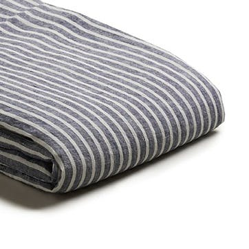 Complete Bedding Bundle Super King with Super King Pillowcases Midnight Stripe