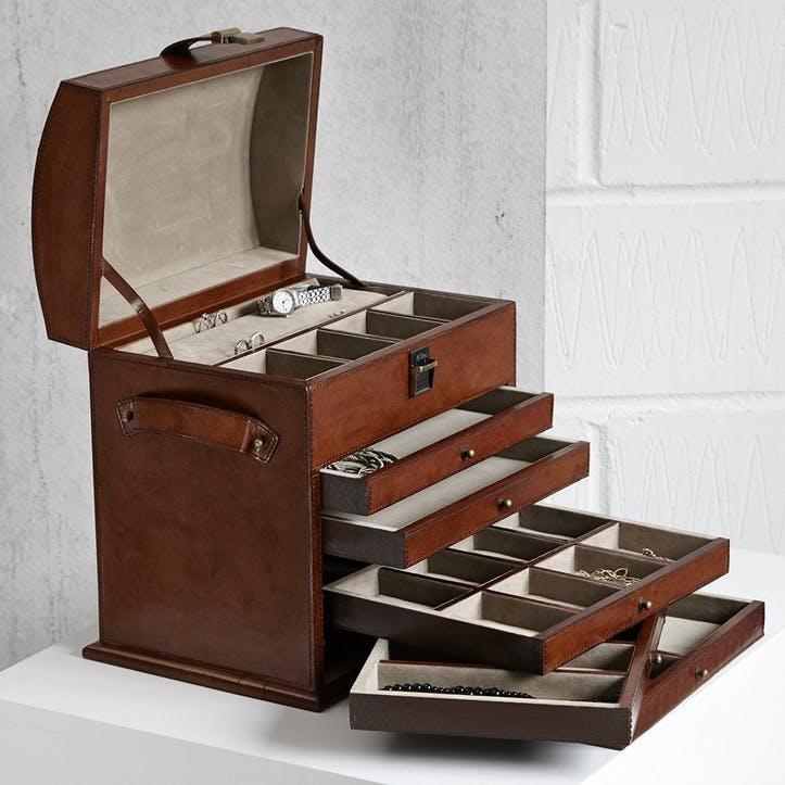Leather Jewellery Organiser