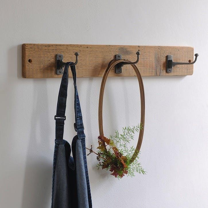Reclaimed Swivel Coat Hook - 60 x 9cm; Natural