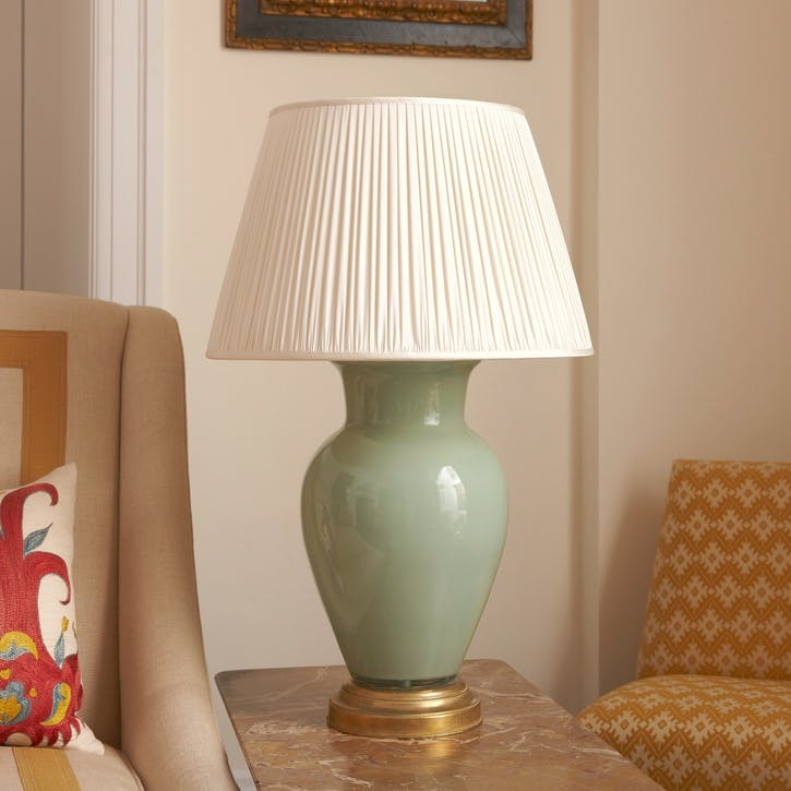 Plain Lamp Base, Large, Artichoke Green