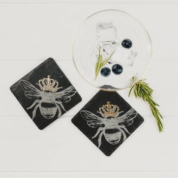 Gold Bee Coaster, Set of 2