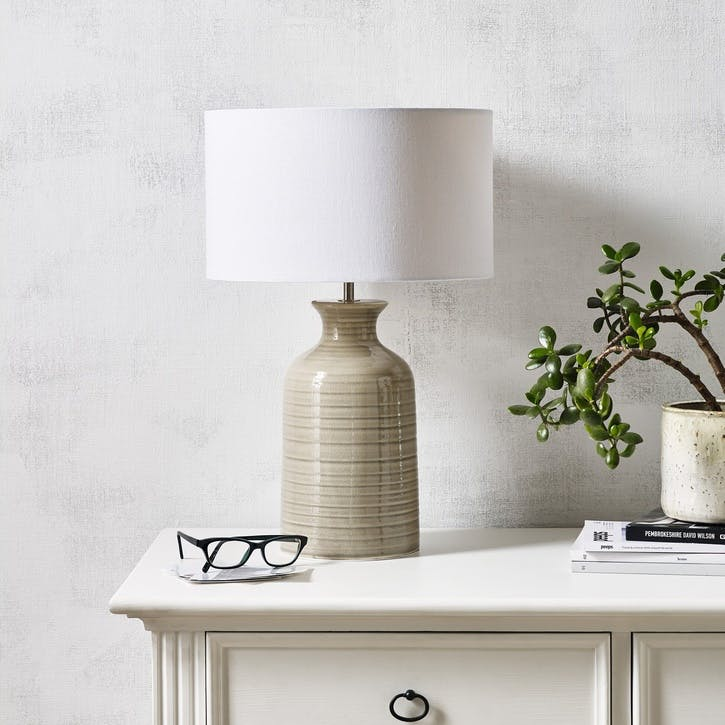 Ceramic Bottle Table Lamp, Small