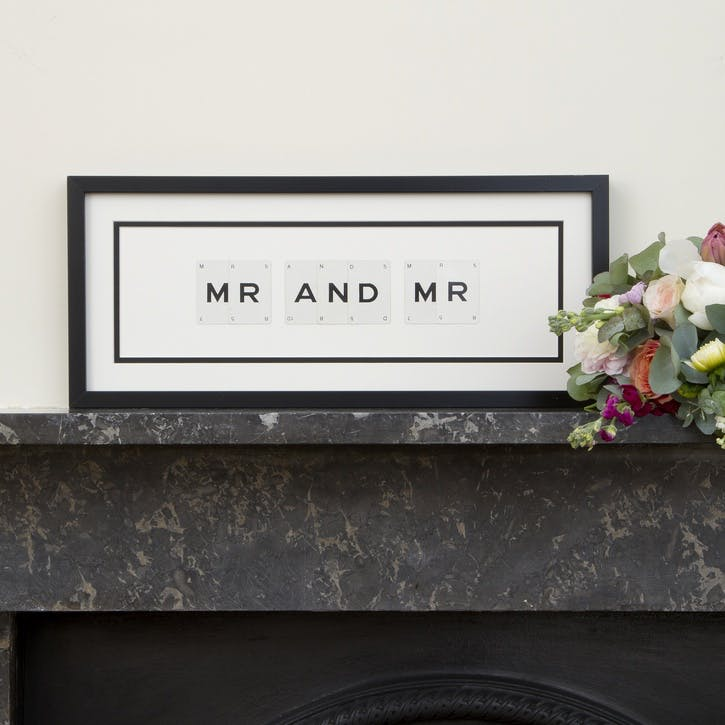 'Mr & Mr' Word Frame