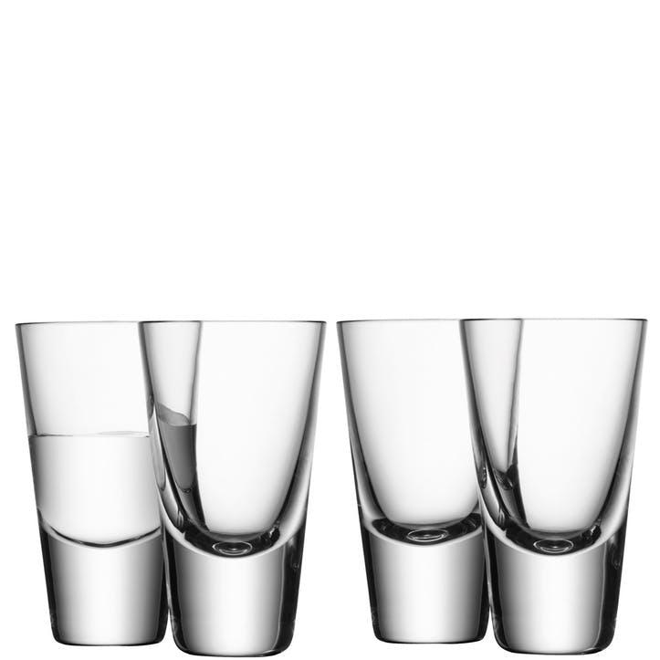 LSA Bar Vodka Glass, 100ml, Set of 4