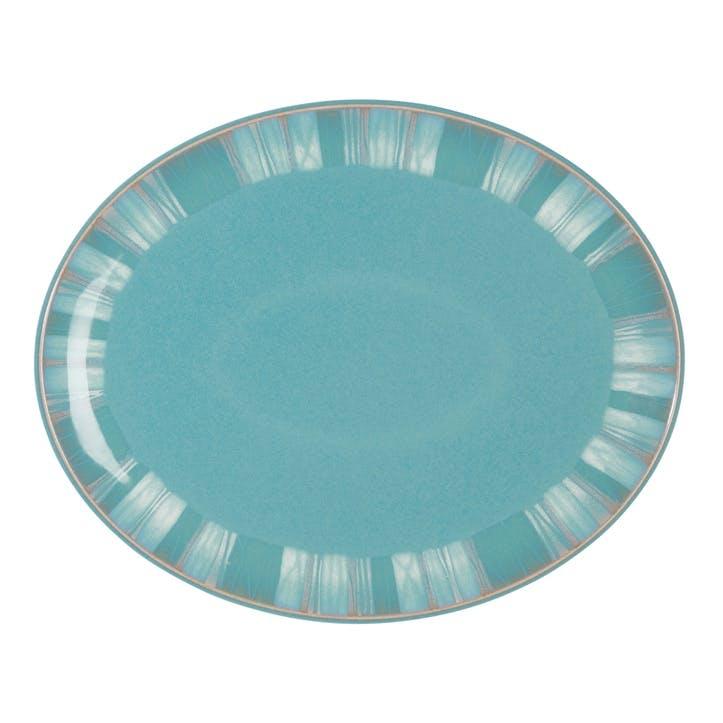 Azure Coast Oval Platter, 36.5cm, Blue
