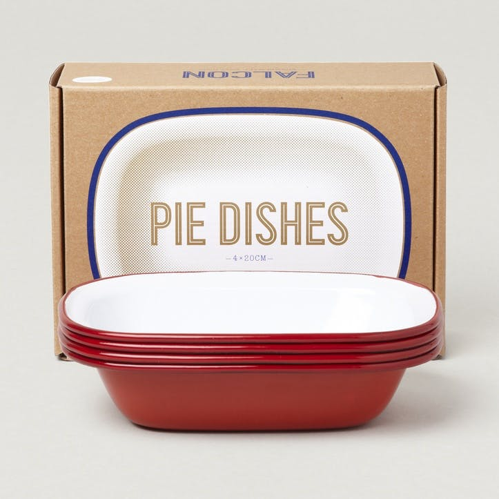 Pie Dishes, Postbox Red