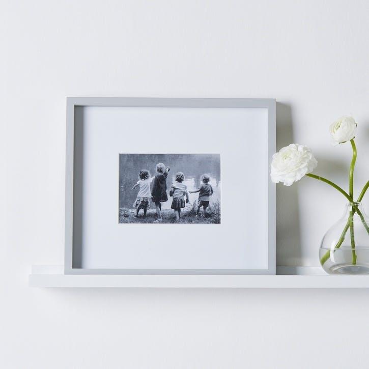 """Fine Wood Frame 5x7"""" Grey"""