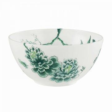 Chinoiserie Salad Bowl, White