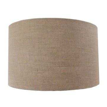 Linen Cylinder Drum Shade - 30cm; Natural