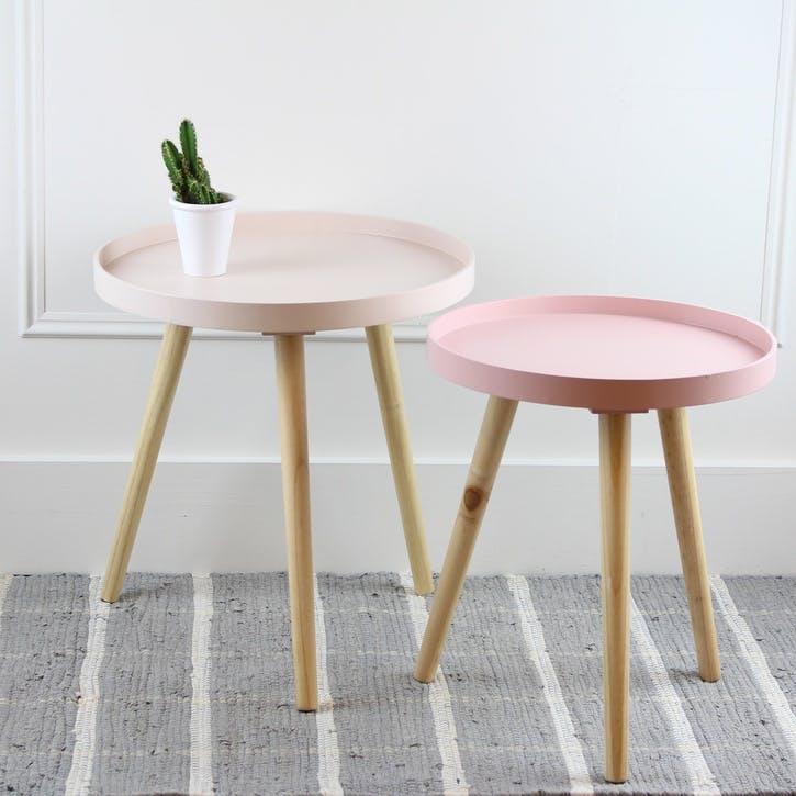 Larsen Side Table, Large, Blush
