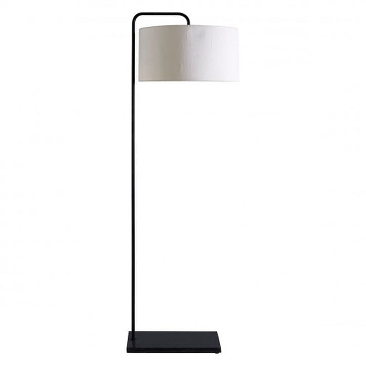 Marbelle Floor Lamp with Shade, Black