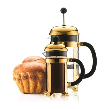Chambord, 8 Cup Coffee Maker, 1 Litre, Gold