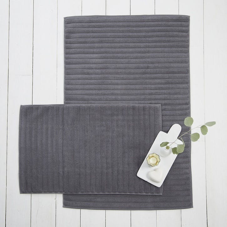 Hydrocotton Bath Mat, Medium, Slate