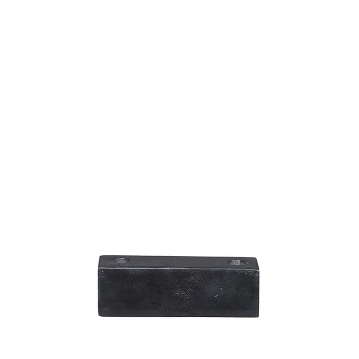Ellen Candlestick, H3.5 x W3.5 x L11cm, Black