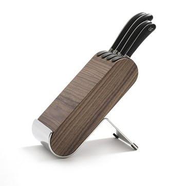 Signature Q Knife Block Set; Walnut