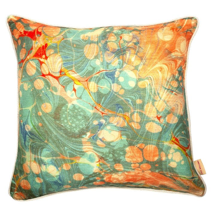 Fantasy Tapestry, Square Linen Cushion, H49 x W49cm