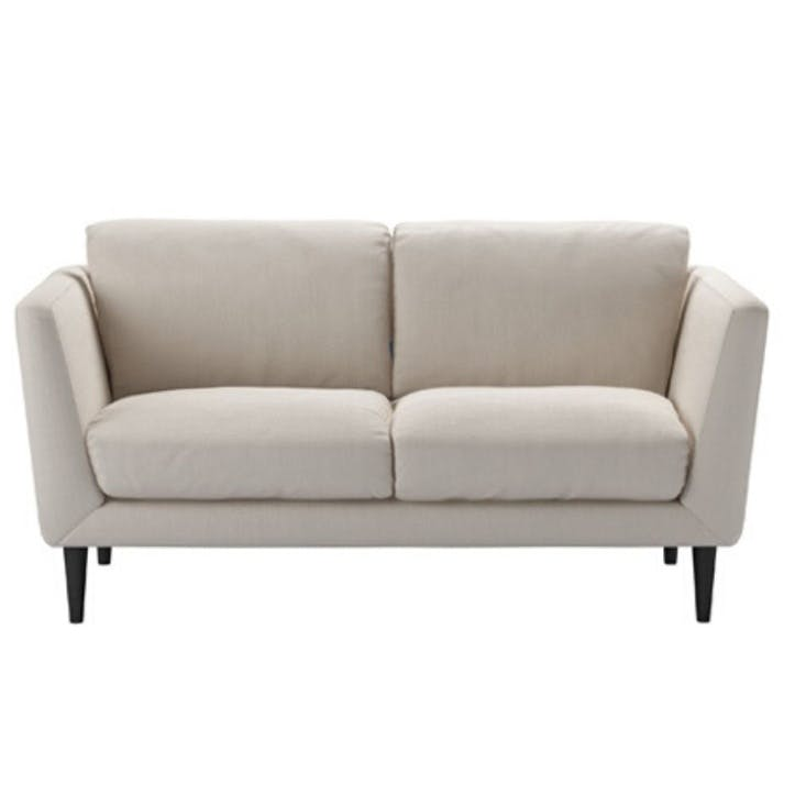 Holly, Two Seat Sofa, Taupe Brushed Linen Cotton