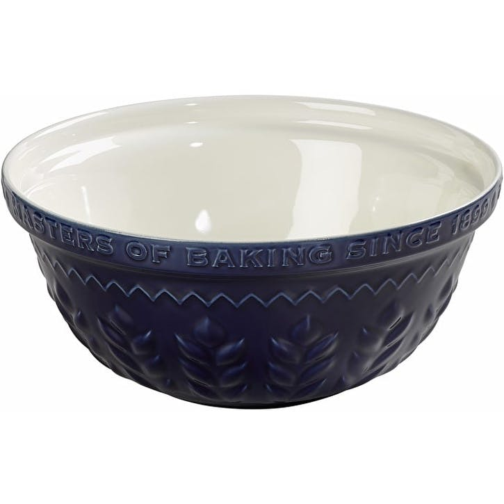 Indigo and Ivory Corn Mixing Bowl, 30cm