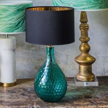 Sea Green Honeycomb Glass Lamp