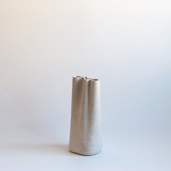 Jumony Tall Vase, White Marble