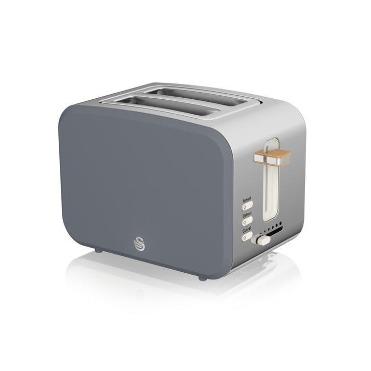 Nordic 2-Slice Toaster, Slate Grey